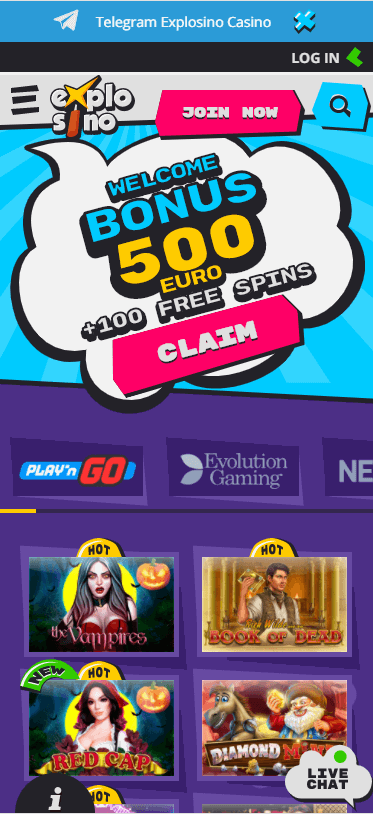 Explosino Casino Bonus