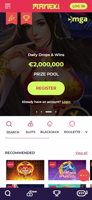 Maneki Casino Bonus