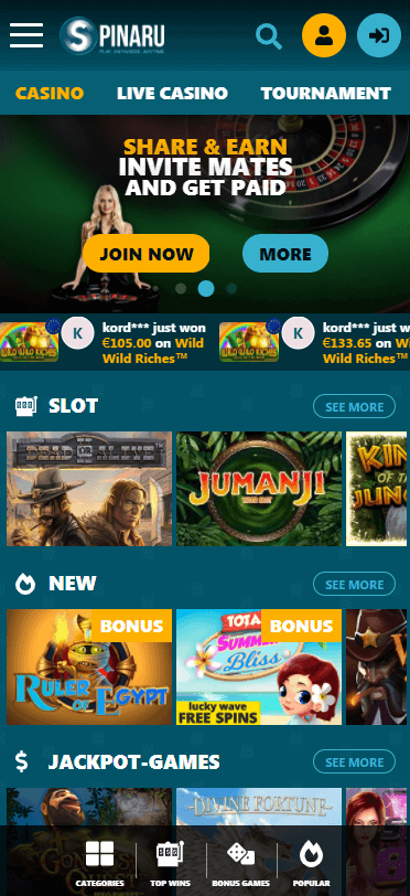 Spinaru Casino Bonus