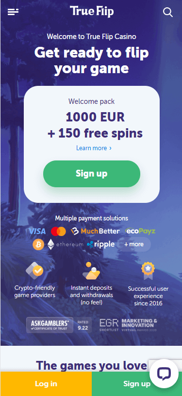 True Flip Casino Bonus