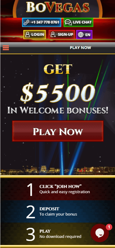 bovegas casino bonus