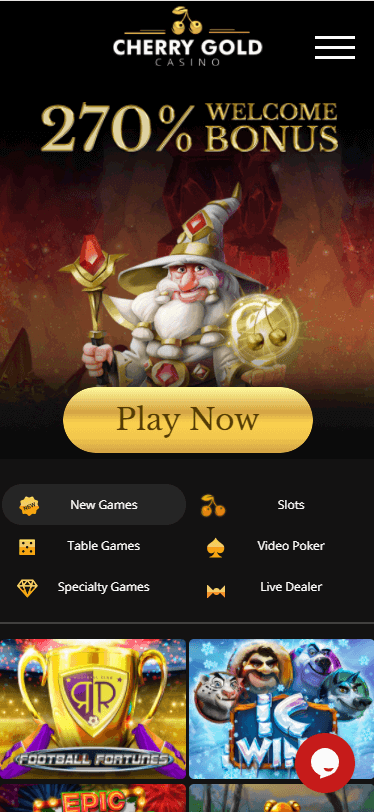cherry gold casino bonus
