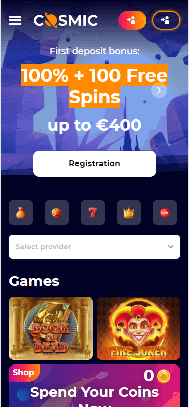 cosmicslot casino bonus
