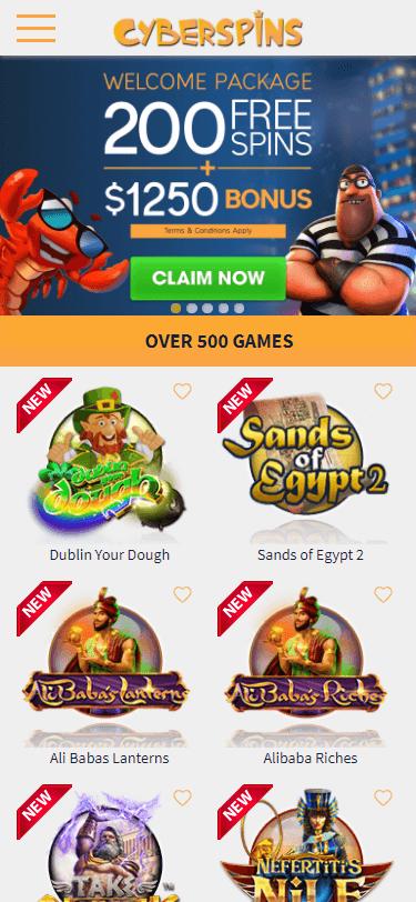 CyberSpins Casino Bonus