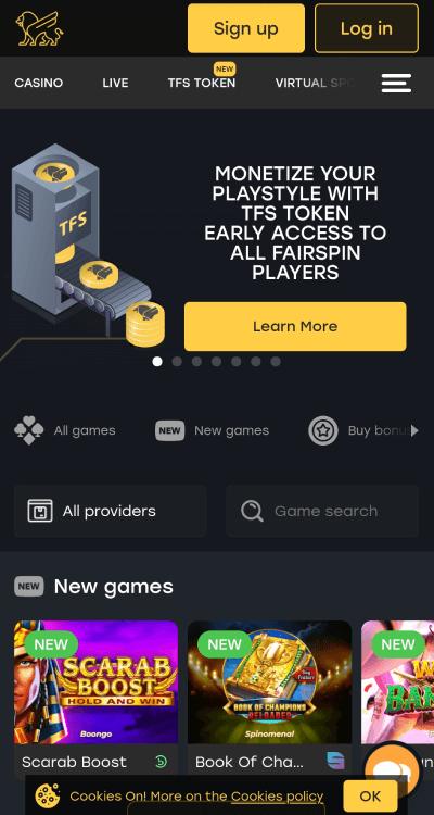 fairspin casino bonus