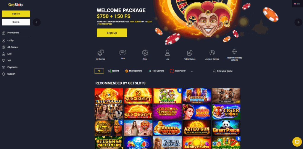getslot casino review