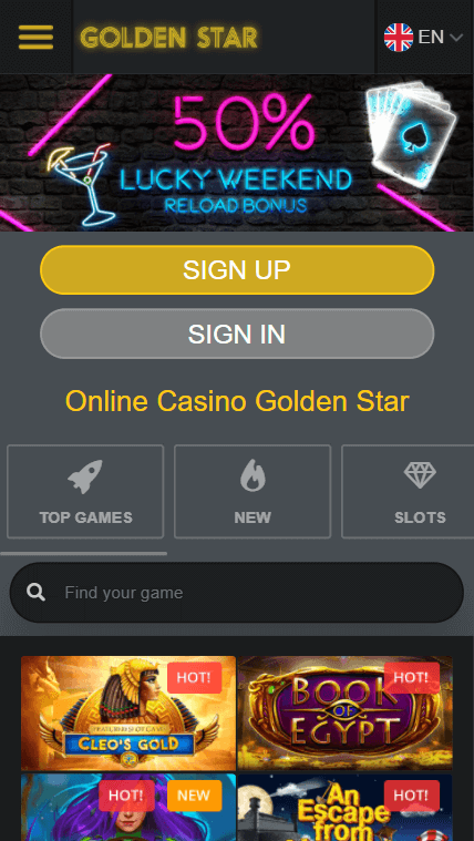 Golden Star Casino Bonus Code
