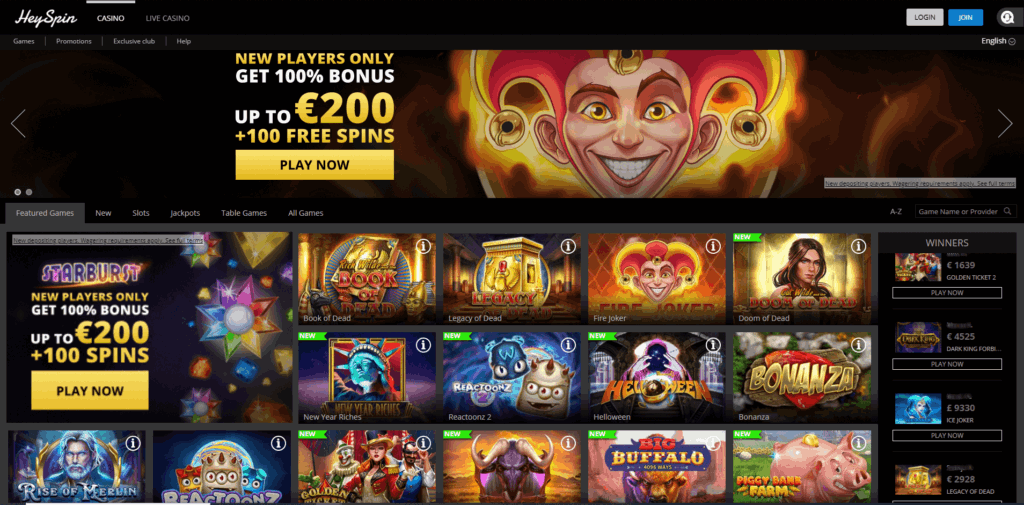 heyspin casino review