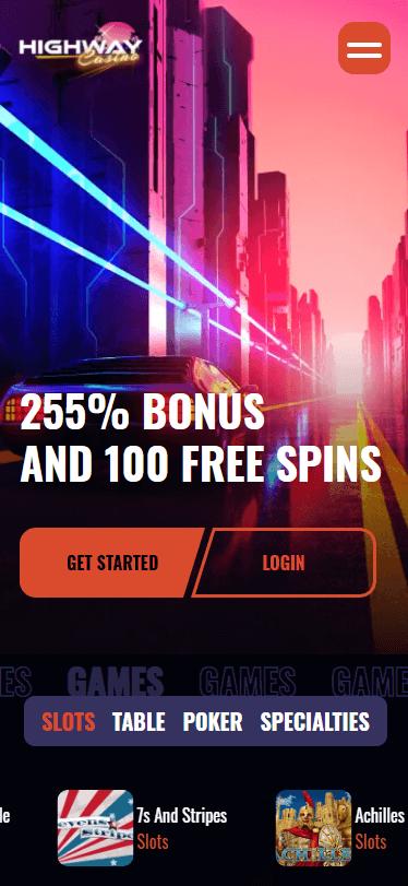 highway casino bonus