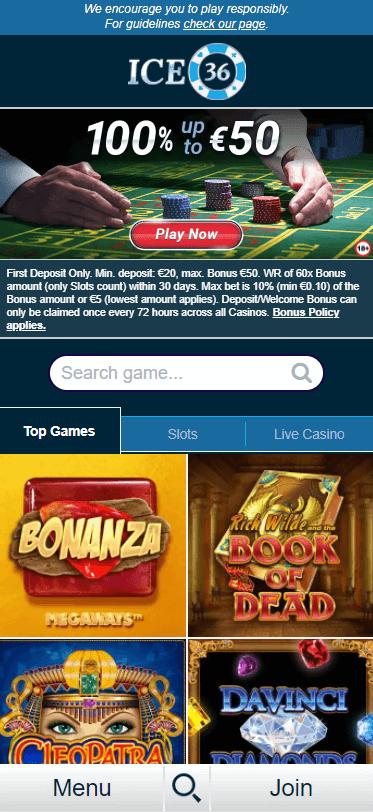 ice36 casino bonus