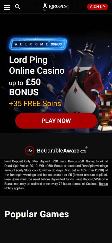 LordPing Casino Bonus