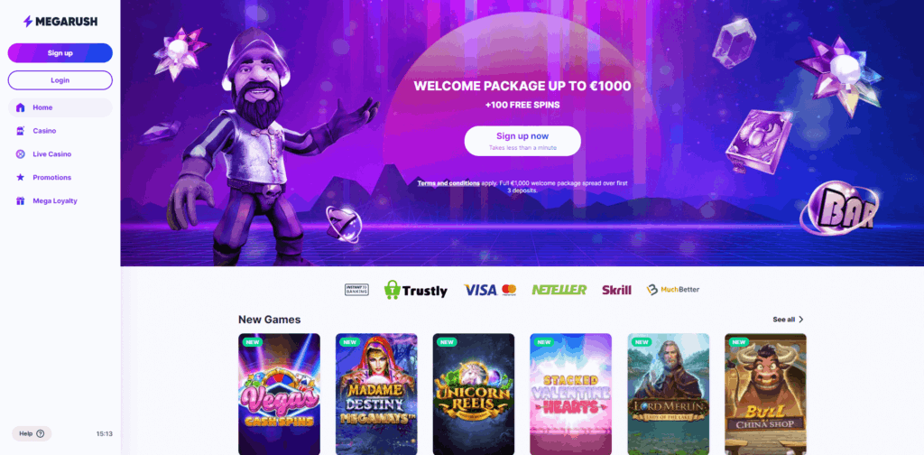 megarush casino review
