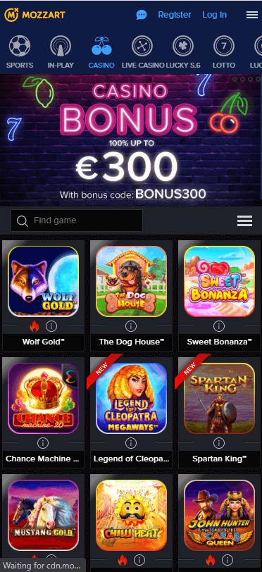 Mozzartbet Casino Bonus