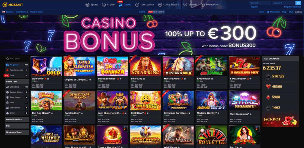 Mozzartbet Casino Review