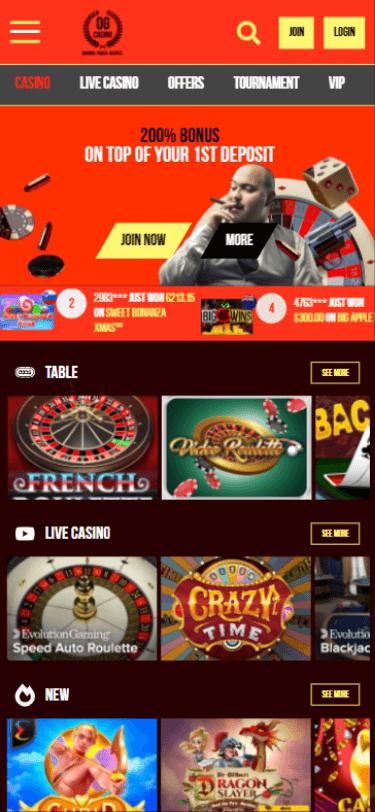 OG Casino Bonus