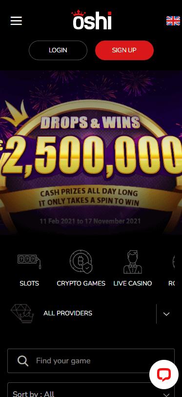 oshi casino bonus