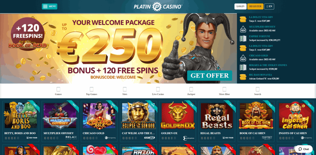 platincasino casino review