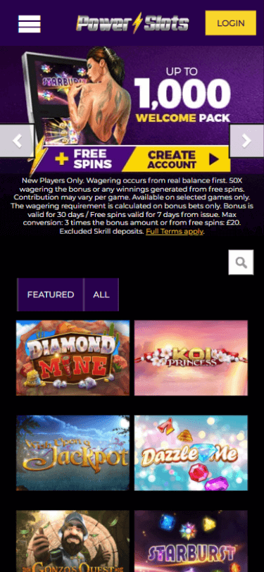 power slots casino bonus