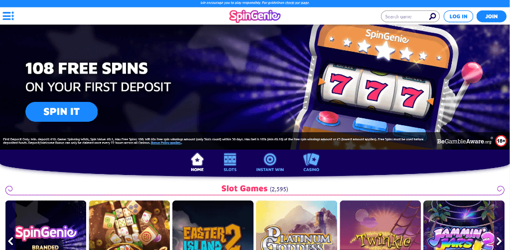 Spin Genie Casino Review