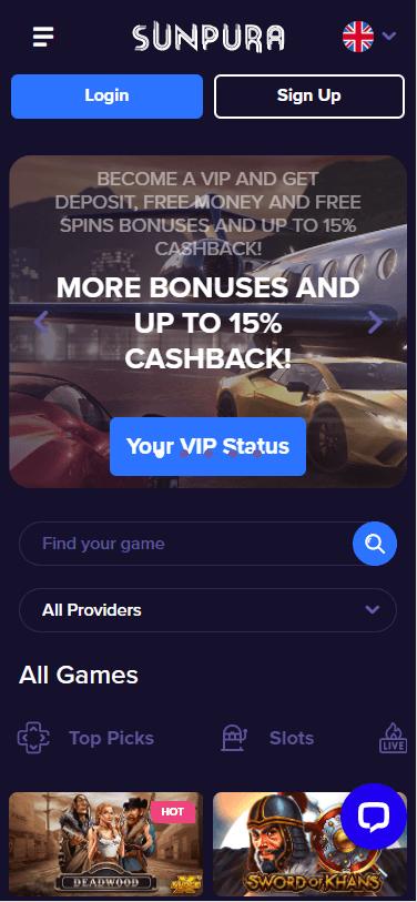 sunpura casino bonus
