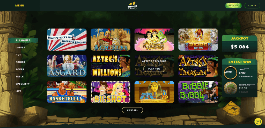 two up casino review
