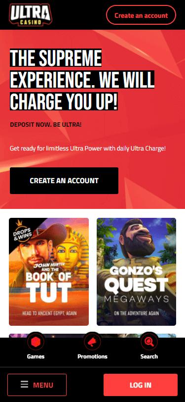 ultra casino bonus