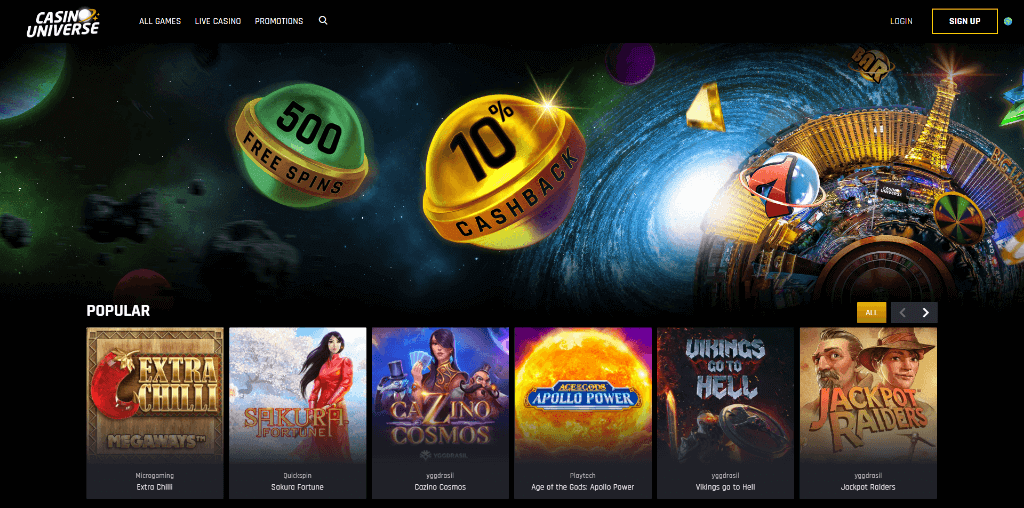 Universe Casino Review