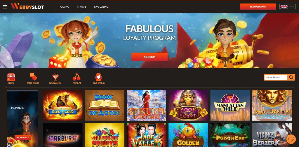 webby slot casino review