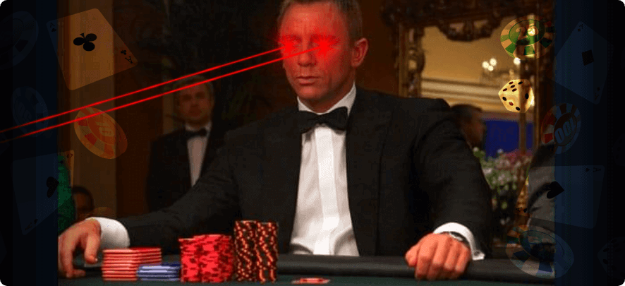what casino games does james bond play