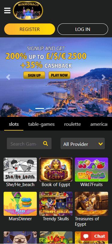 winmonaco casino bonus